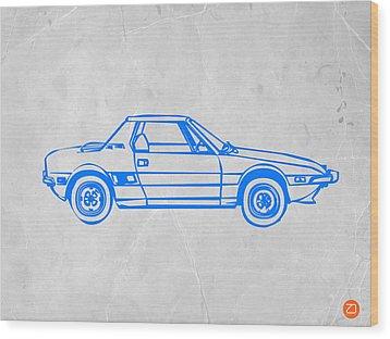 Lancia Stratos Wood Print by Naxart Studio
