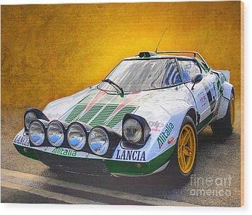 Lancia Stratos Wood Print