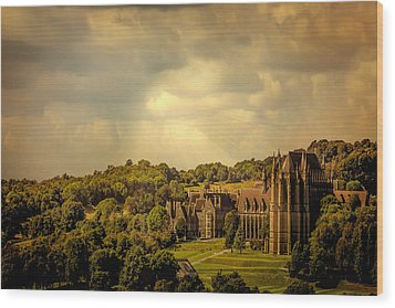 Wood Print featuring the photograph Lancing College by Chris Lord