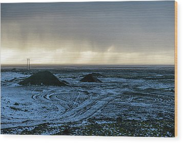 Wood Print featuring the photograph land of Lava by Dubi Roman