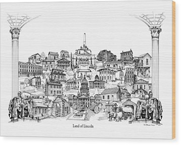 Land Of Lincoln Wood Print by Dennis Bivens