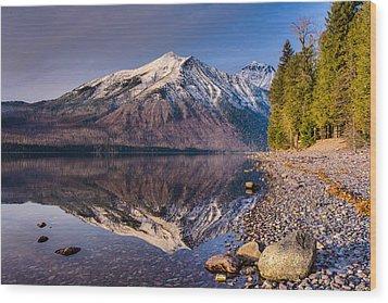 Land Of Shining Mountains Wood Print