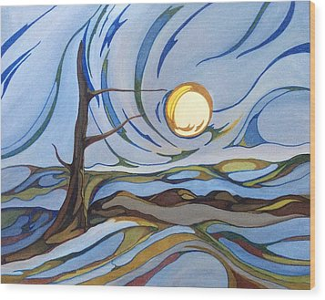 Land Of The Midnight Sun Wood Print