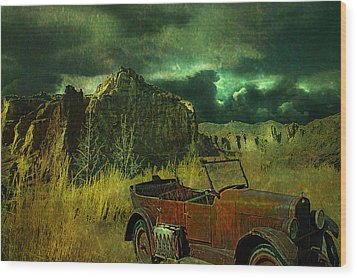 Land Rover Wood Print by Jeff Burgess