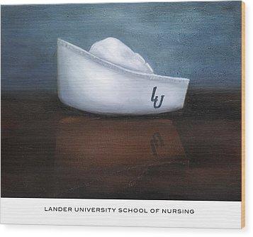 Lander University School Of Nursing Wood Print by Marlyn Boyd
