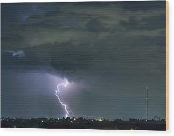 Wood Print featuring the photograph Landing In A Storm by James BO Insogna