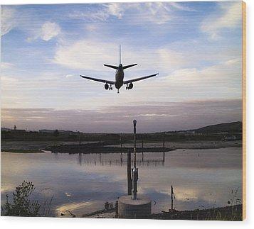 Landing In George Best Wood Print