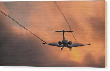 Wood Print featuring the photograph Landing In L.a. by April Reppucci