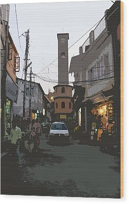 Landour Clock Tower Wood Print
