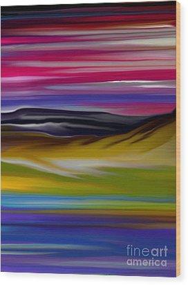 Landscape 7-11-09 Wood Print by David Lane