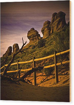 Landscape Arch 3 Wood Print