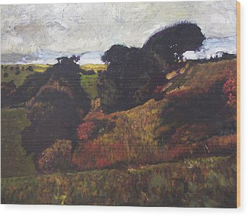 Wood Print featuring the painting Landscape At Rhug by Harry Robertson
