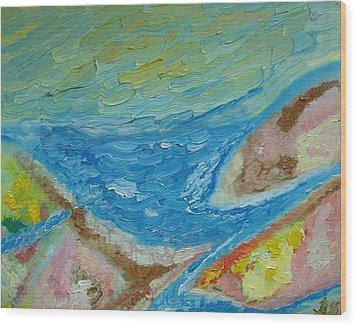 Landscape. Fantasy 12. Top View. Wood Print