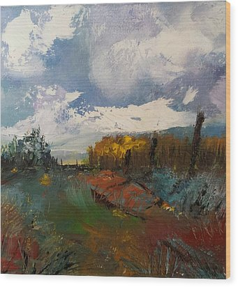 Landscape Impression Wood Print by Michele Carter
