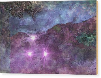 Landscape Mist Wood Print by Dorothy Berry-Lound