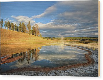 Landscape Of Yellowstone Wood Print by Philippe Sainte-Laudy Photography