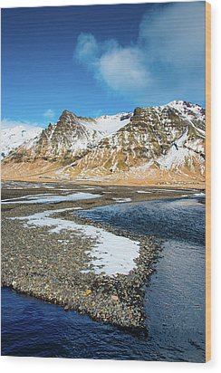 Landscape Sudurland South Iceland Wood Print by Matthias Hauser