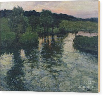Landscape With A River Wood Print by Fritz Thaulow