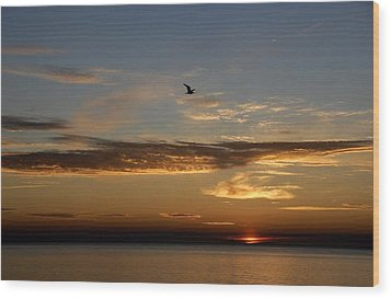 Lanesville Sunset Wood Print by AnnaJanessa PhotoArt