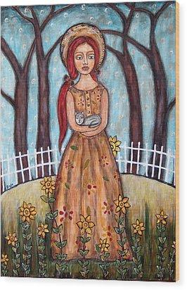 Laney Wood Print by Rain Ririn