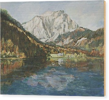 Langbathsee Austria Wood Print