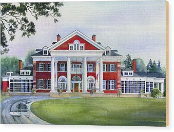 Langdon Hall Wood Print by Hanne Lore Koehler