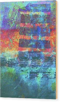 Wood Print featuring the painting Language by Nancy Merkle
