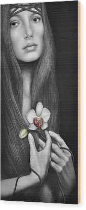 Language Of The Heart Wood Print by Pat Erickson