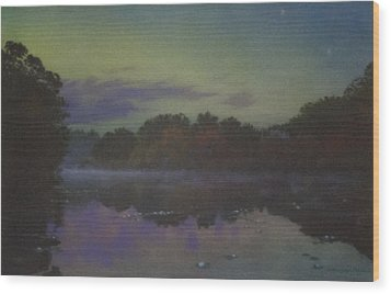 Langwater At Twilight Wood Print
