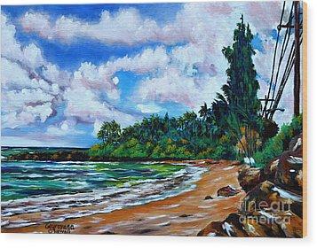 Laniakea Beach Wood Print