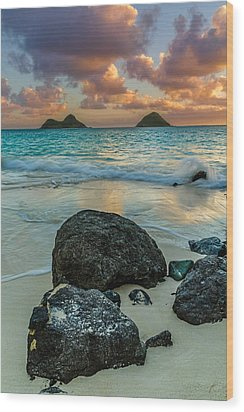 Lanikai Sunrise Wood Print