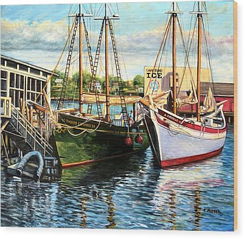 Lannon And Ardelle Gloucester Ma Wood Print