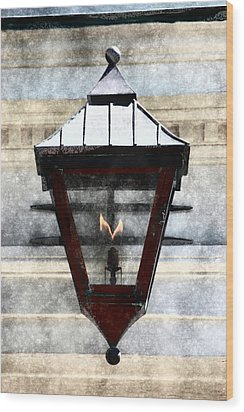 Lantern 13 Wood Print by Donna Bentley