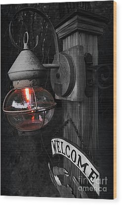 Wood Print featuring the photograph Lantern by Brian Jones