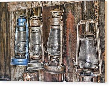Lanterns Wood Print by Kelley King