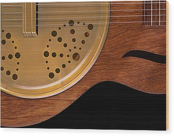 Lap Guitar I Wood Print by Mike McGlothlen