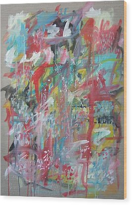 Large Abstract No 3 Wood Print by Michael Henderson