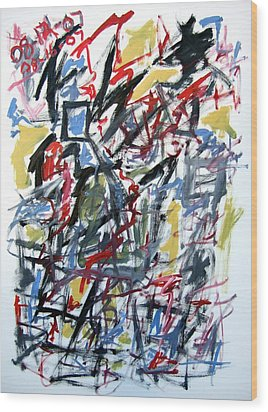 Large Abstract No. 5 Wood Print by Michael Henderson