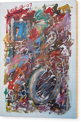 Large Abstract No. 6 Wood Print by Michael Henderson