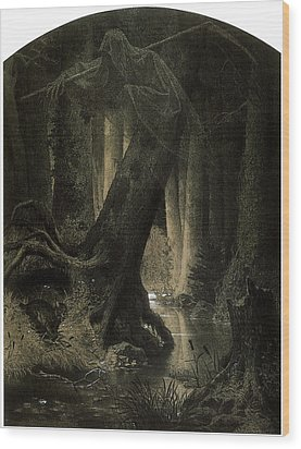 Large Forest Wood Print by Arthur Grottger
