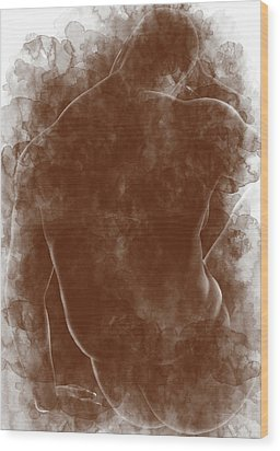 Large Man Backside Wood Print by Peter J Sucy