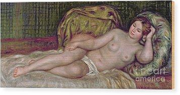 Large Nude Wood Print by Pierre Auguste Renoir