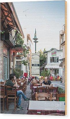 Larissa Old City Street View Wood Print
