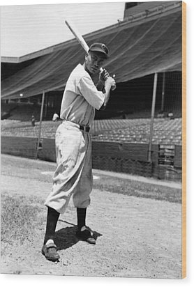 Larry Doby, Circa 1947 Wood Print by Everett