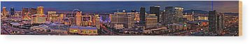 Wood Print featuring the photograph Las Vegas Panoramic Aerial View by Susan Candelario
