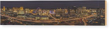 Las Vegas Strip Wood Print by Roman Kurywczak