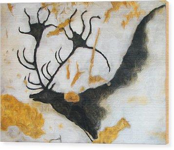 Lascaux Megaceros Deer 2 Wood Print