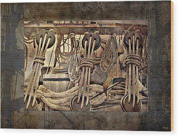 Lashings Wood Print by Holly Kempe