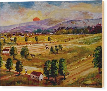 Lasithi Valley-greece Wood Print