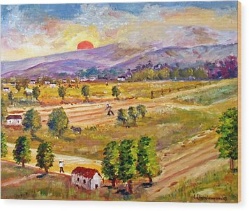 Lasithi Valley In Greece Wood Print